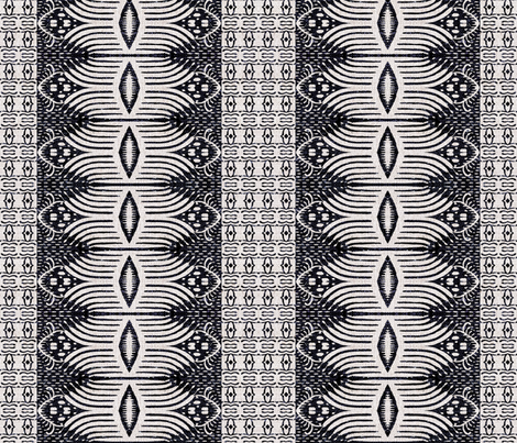FRENCH_LINEN_TRIBAL_IKAT_DARK fabric by holli_zollinger on Spoonflower - custom fabric