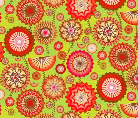 GeoDaisy fabric by orangefancy on Spoonflower - custom fabric