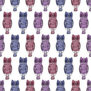 Jeweled owls