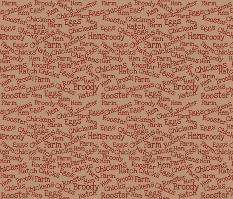 Chicken Lingo fabric by lilymorgan on Spoonflower - custom fabric