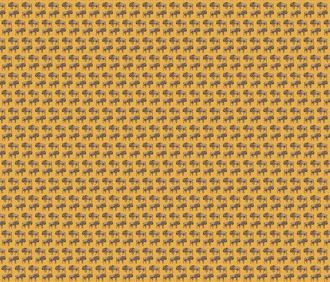 Wildebeest Orange fabric by wren_2_0 on Spoonflower - custom fabric