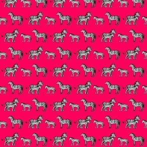 Zebra Family in Pink