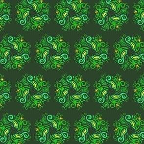 Celtic round - green