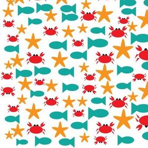 Crab and Fish