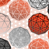 Dot dot dot this Geodesic on pale pink by Su_G