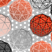 Dot dot dot this Geodesic on pale gray by Su_G