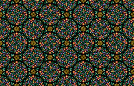 Folk_Art_Mandala fabric by j9design on Spoonflower - custom fabric