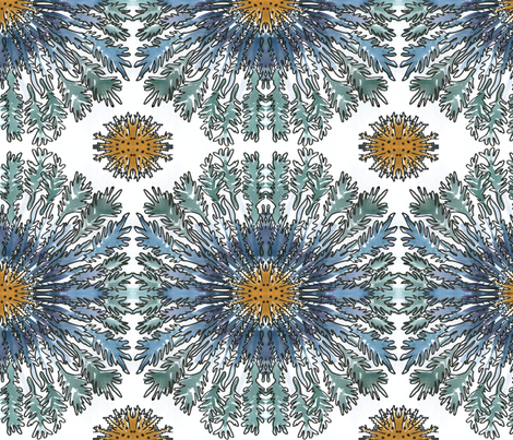 Cornflower Mandala fabric by palusalu on Spoonflower - custom fabric