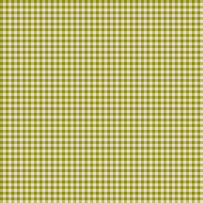 Quarter Inch Olive Green Gingham
