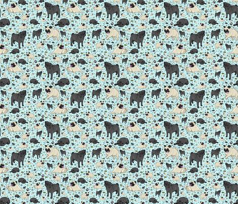 Pug Life fabric by nemki on Spoonflower - custom fabric