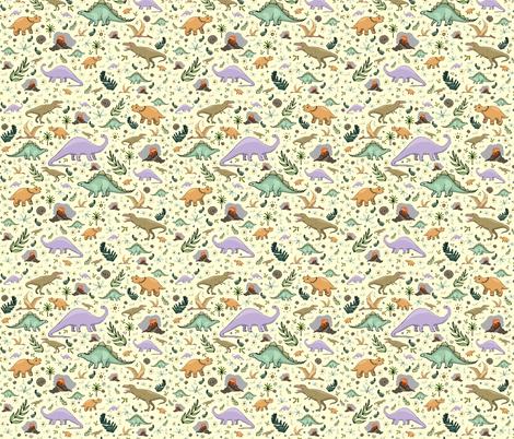 Dinosaurs fabric by nemki on Spoonflower - custom fabric