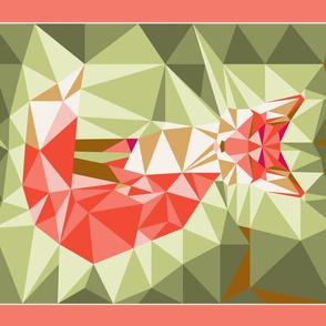 tea_towel_fox_geodesic_green_lin_coton