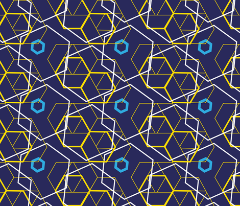 PSYCHEDELIC_HEXAGON_2 fabric by melluciani on Spoonflower - custom fabric