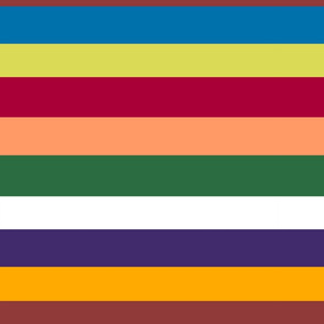 Tuscan stripes- Large