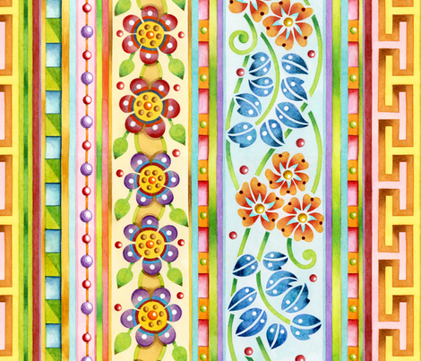 Parterre Botanique Vertical fabric by patriciasheadesigns on Spoonflower - custom fabric
