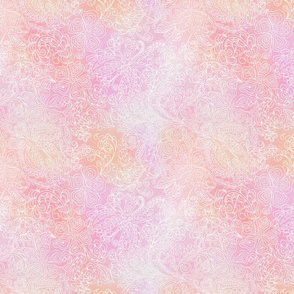 pale pink lights butterfly floral_print