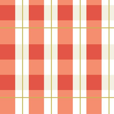 checker in burnt orange fabric by lburleighdesigns on Spoonflower - custom fabric