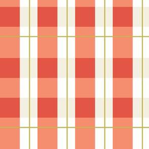 checker in burnt orange