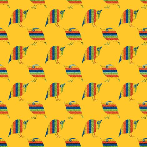 Loud Striped Birds 1 fabric by anniedeb on Spoonflower - custom fabric