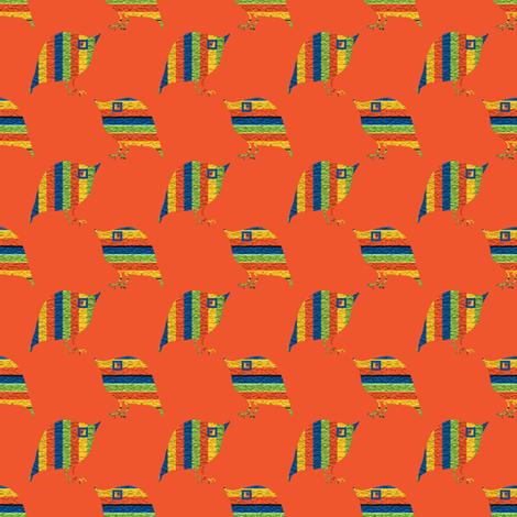 Loud Striped Birds 3 fabric by anniedeb on Spoonflower - custom fabric