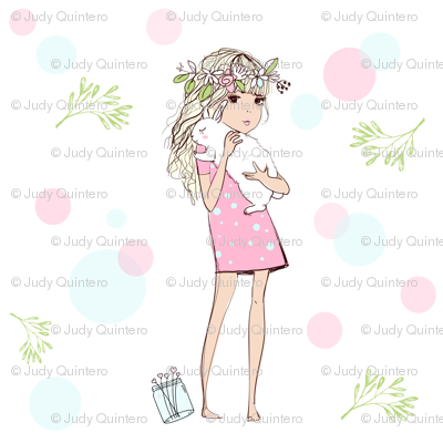 Girl With Bunny / Spring Collection 2017