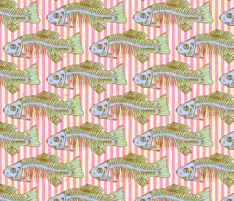 fishbone2 fabric by bbusbyarts on Spoonflower - custom fabric