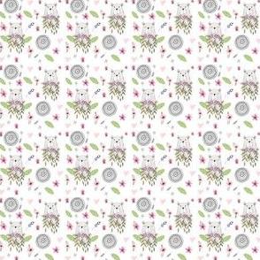 "1.5"" Floral Woodland Bear Mini"