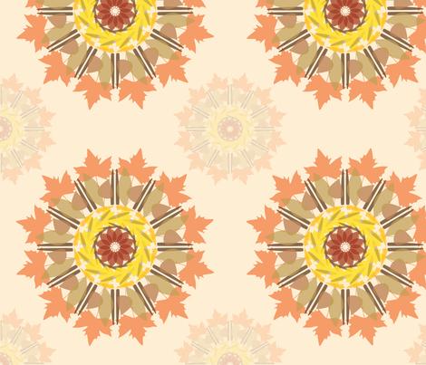 leaves mandala fabric by dafnag on Spoonflower - custom fabric