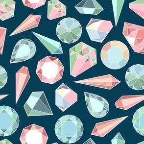 Diamonds on Dark Background