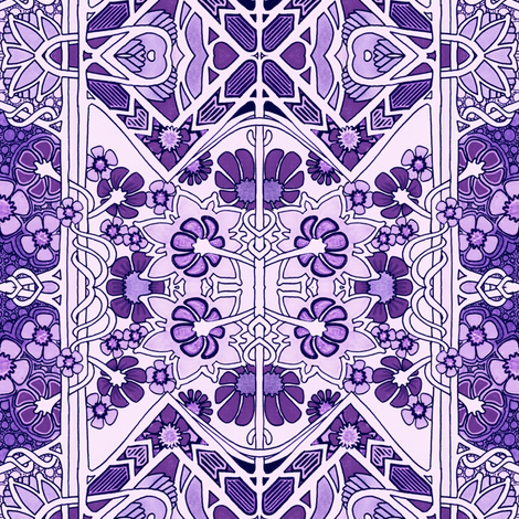 Everybody Likes Purple fabric by edsel2084 on Spoonflower - custom fabric