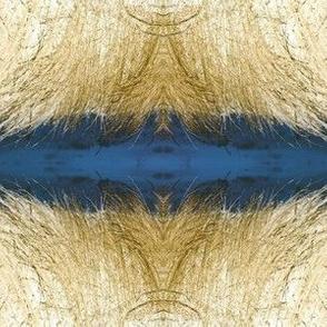 Deep blue and golden angel wings sewindigo