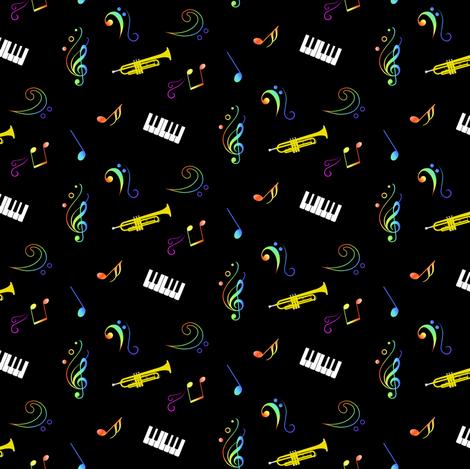 Music in celebration fabric by souffledarmonie on Spoonflower - custom fabric
