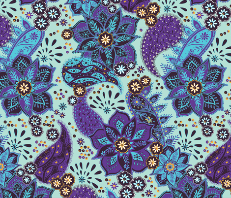 Boho Mandala fabric by jill_o_connor on Spoonflower - custom fabric