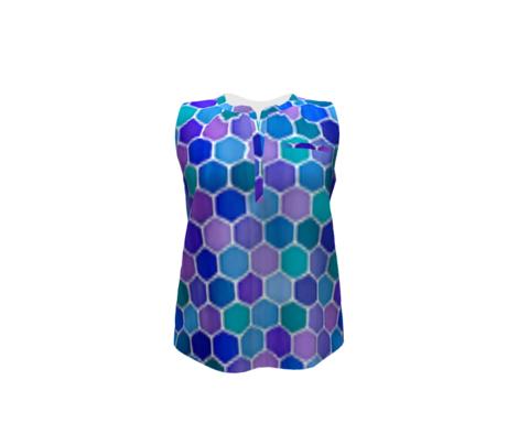 Jewel Tone Hexagon Watercolor Tiles