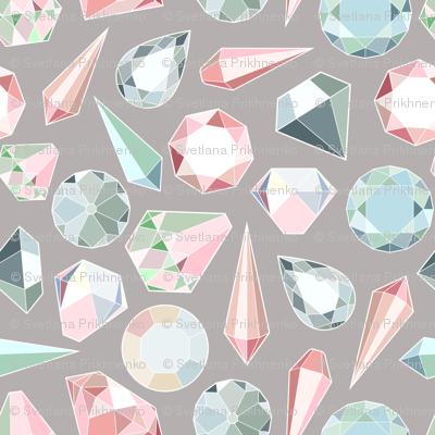 Diamonds on gray