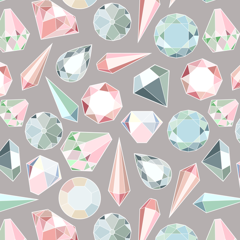 Diamonds on gray fabric by svetlana_prikhnenko on Spoonflower - custom fabric