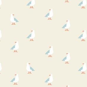 Seagulls in beige