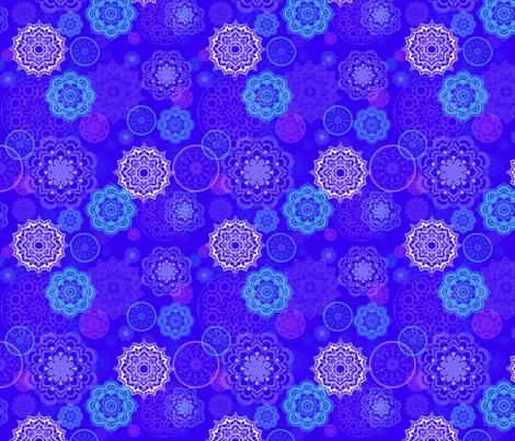 Dancing Mandalas fabric by gnarllymamadesigns on Spoonflower - custom fabric
