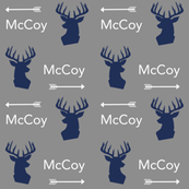custom name fabric deer head