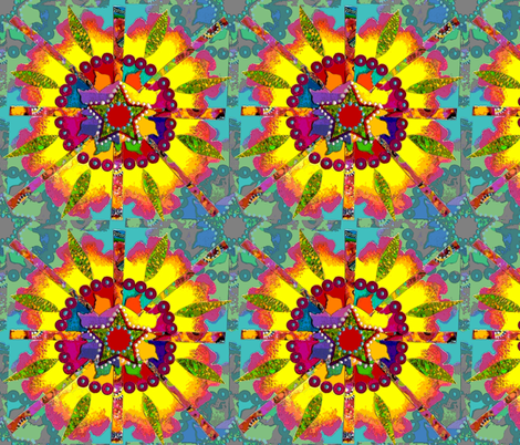 Starburst Mandala fabric by martha_rose on Spoonflower - custom fabric