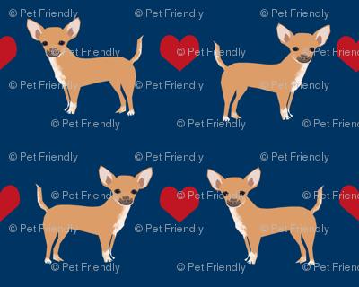 Chihuahua heart fabric pet dog breed