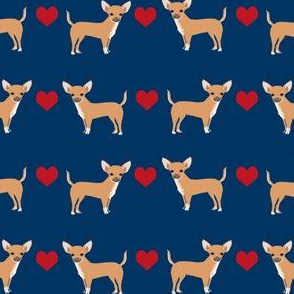 Chihuahua heart fabric pet dog breed