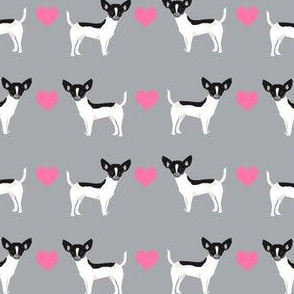 Chihuahua piebald heart fabric pet dog breed