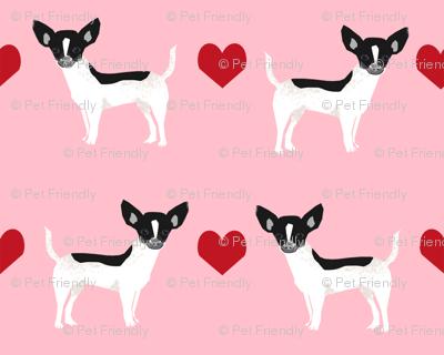 Chihuahua piebald heart fabric pet dog breed pnk