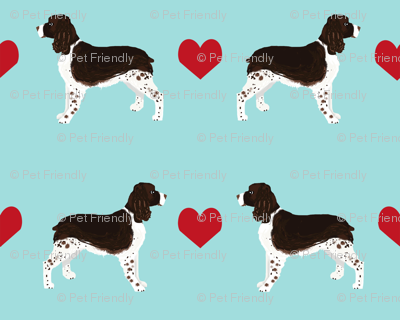 English Springer Spaniel heart fabric pet dog breed