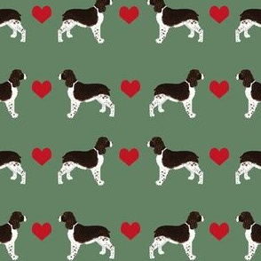 English Springer Spaniel heart fabric pet dog breed