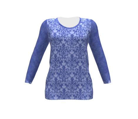 Blue Damask for Shirt Front
