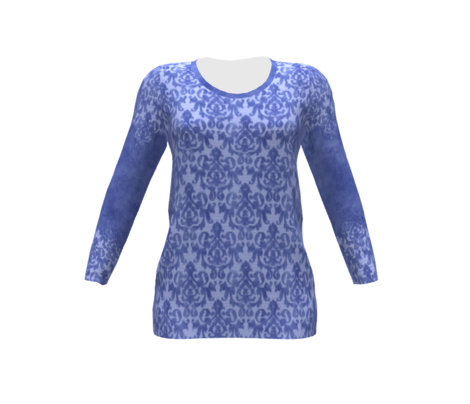 Blue Damask for Shirt Front