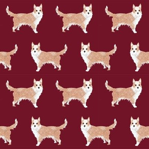 portuguese podengo pequeno fabric dogs fabric simple dog design - ruby