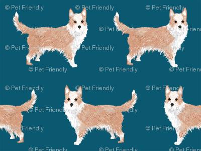 portuguese podengo pequeno fabric dogs fabric simple dog design - sapphire